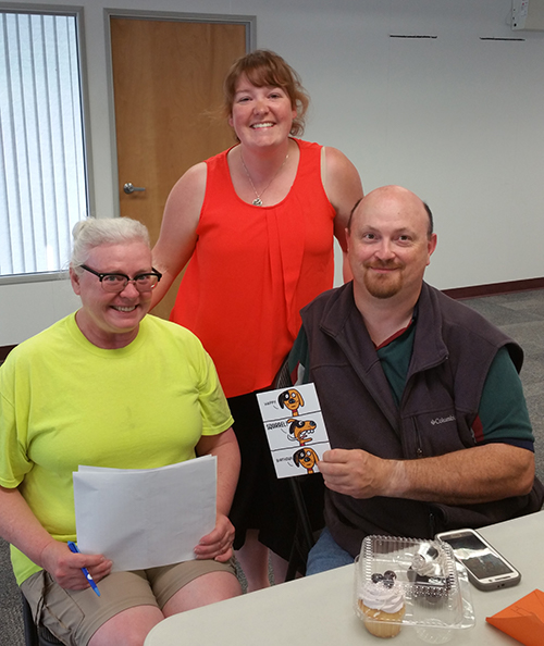 Val Stewart, Sharon Bull & Ron Hardy at the Prince George Labour Day organzing committee meeting