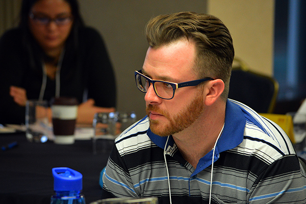 James at the PSAC BC Young Workers Conference, Fall 2016