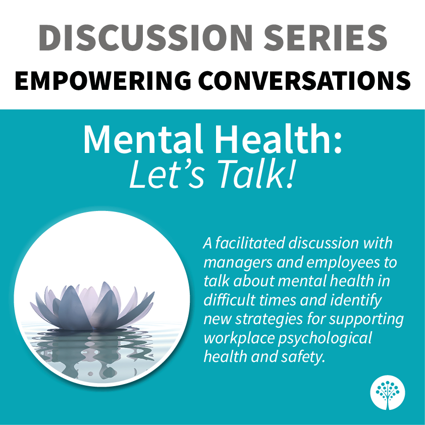 The JLP is proud to announce that the fourth guided discussion in its Empowering Conversations discussion series, Mental Health: Let's Talk! has launched.